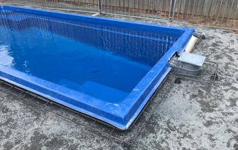 Mullumbimby Swimming Pool Steel for Coping