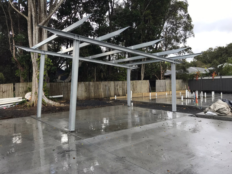 We recently inspected this interesting looking carport