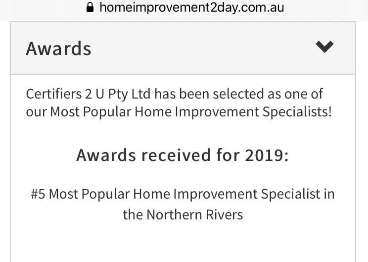 The 5th best Home Improvement Business in the Northern Rivers!